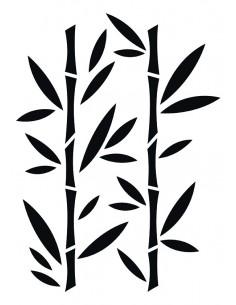 """Pochoir """"Bambou"""" - 21 x..."""