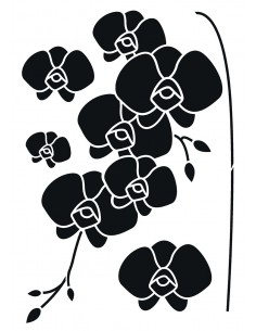 """Pochoir """"Orchidées"""" - 42 x..."""