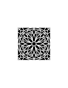 """Pochoir """"Mandala"""" - 30 x 30 cm"""