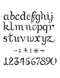 """Pochoir """"Alphabet"""" - 20 x..."""