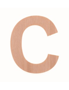 """Lettre """"C"""" en bois..."""