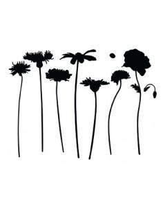 "Pochoir ""Fleurs"" - 10 x 13 cm"