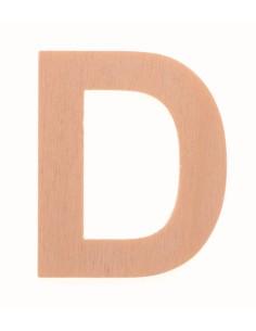 """Lettre """"D"""" en bois..."""