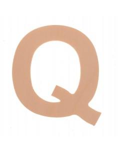 """Lettre """"Q"""" en bois..."""