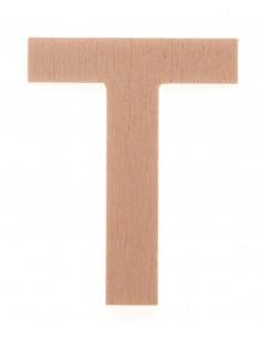 "Lettre ""T"" en bois..."