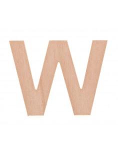 """Lettre """"W"""" en bois..."""