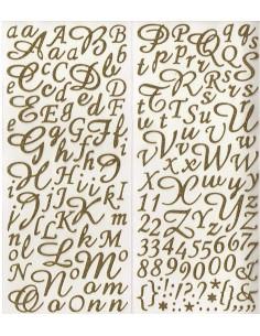 "Alphabet Autocollant ""Or"""