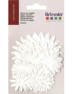 """Fleurs en Papier """"Blanc"""" -..."""