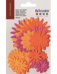 "Fleurs en Papier ""Orange"" -..."