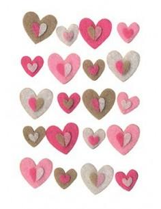 Cœurs en Feutre - 2 x 2 cm...