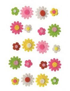 Fleurs en Feutre - 2 x 2 cm...