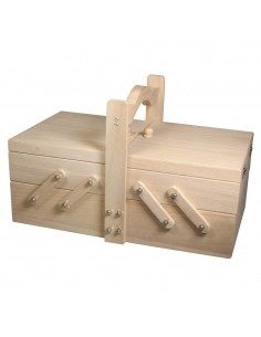Boîte de couture en bois -...