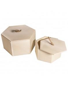 Lot de 2 boîtes hexagonales...